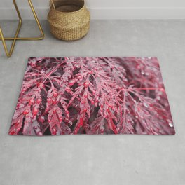 Red Raindrops Rug
