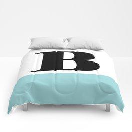 Monogram Letter B-Pantone-Limpet Shell Comforters