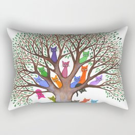 Topeka Whimsical Cats in Tree Rectangular Pillow