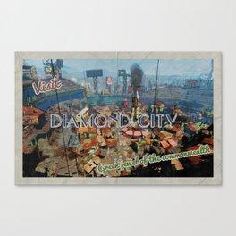 "Vintage Travel Diamond City ""postcard"" Canvas Print"