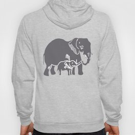 Mom and Baby Elephant Hoody