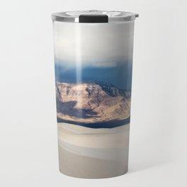 Sunlight on San Andres - Desert Scenery at White Sands New Mexico Travel Mug