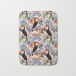 Tucan Garden #pattern #illustration Bath Mat