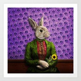 Miss Bunny Lapin in Repose Kunstdrucke