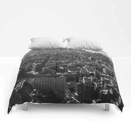 Manhattan Skyline, NY, fine art print, new york city, high quality photo Comforters