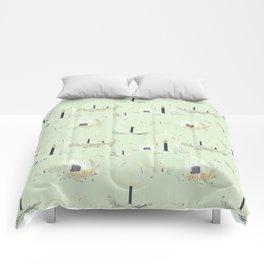 Fairy Land (mint) Comforters