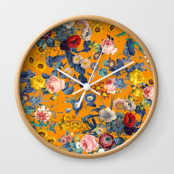 Summer Botanical Garden IX Wall Clock