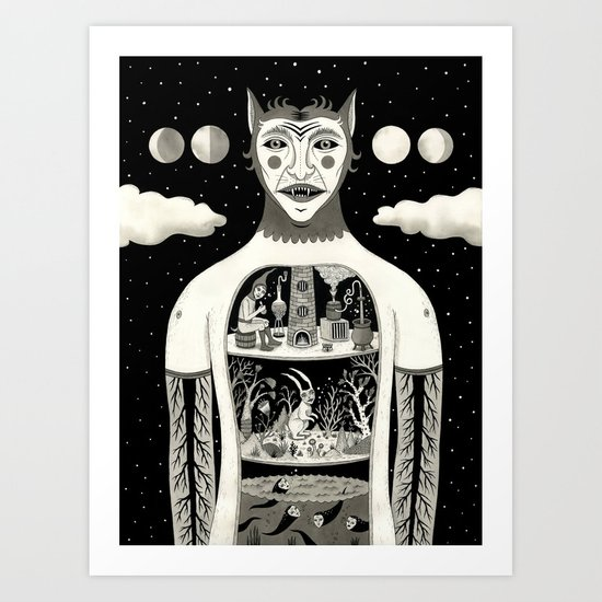 Under Skin Art Print
