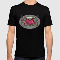 I love you Mens Fitted Tee Black MEDIUM