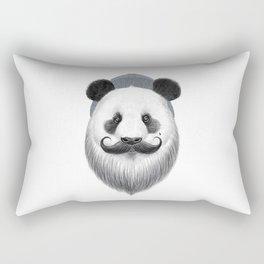 bearded panda Rectangular Pillow