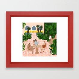 Au Café de la Jungle Framed Art Print