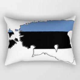 Estonia Map with Estonian Flag Rectangular Pillow