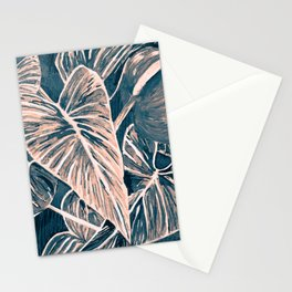 Pop Anthurium Leafs and Flowers Stationery Cards