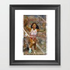 AMERICA ON HER BACK Framed Art Print