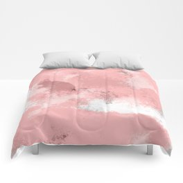 Pink Abstract  Comforters