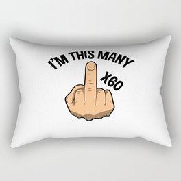I'm This Many Sixty Years 60th Birthday Rectangular Pillow