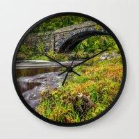 beaver Wall Clocks featuring Beaver Bridge by Adrian Evans