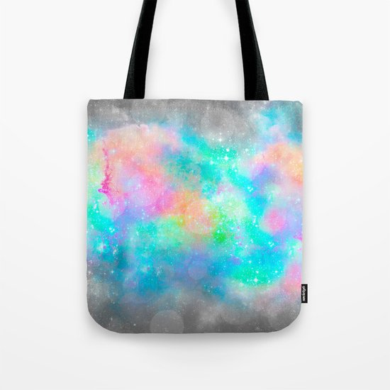 The Soul Becomes Dyed With the Colors of it's Thoughts (Galactic Watercolors) Tote Bag