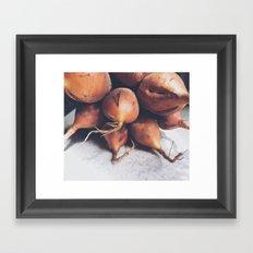 Golden Beets Framed Art Print