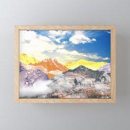 Mountains (photo montage) Framed Mini Art Print