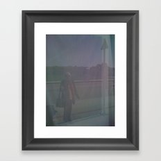 Pavement Lady Framed Art Print