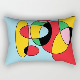 Circulos mult color Rectangular Pillow