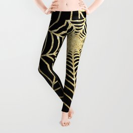 Spiderweb | Gold Glitter Leggings