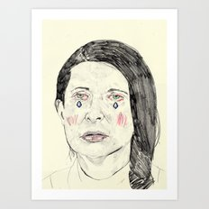 Marina Abramović Art Print