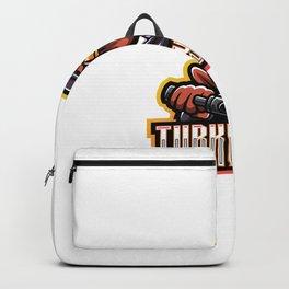 Turkey Gunner Esport Mascot Logo Backpack
