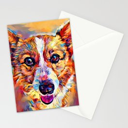 Corgi 4 Stationery Cards