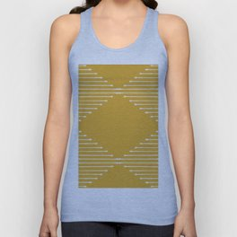 Geo / Yellow Unisex Tank Top