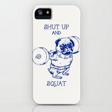 Pug Squat iPhone (5, 5s) Slim Case