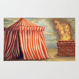 Circus Tent and Fire Rug