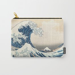The Great Wave off Kanagawa by Katsushika Hokusai from the series Thirty-six Views of Mount Fuji Carry-All Pouch