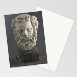 Giovanni Pisano - Head of a bearded man Stationery Cards