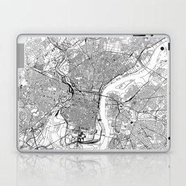 Philadelphia White Map Laptop & iPad Skin