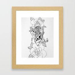 Tiger love Framed Art Print