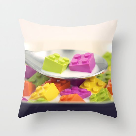 A Balanced Brickfast Throw Pillow