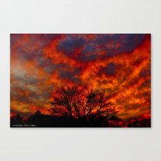 Fire Sky Canvas Print