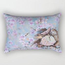 Clockwork nestling Rectangular Pillow