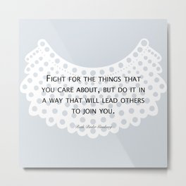 Fight, Lead - RBG (blue) *also in grey Metal Print