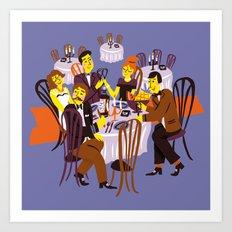 Fancy Dinner Art Print