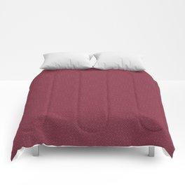 Rose Red (Rouge) Tres Petit Geometric Pattern Comforters