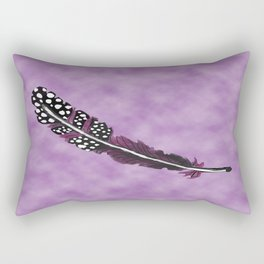 Watercolor Purple Feather with Spots  Rectangular Pillow