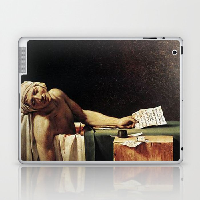 Death of Marat by - Jacques-Louis David Laptop & iPad Skin