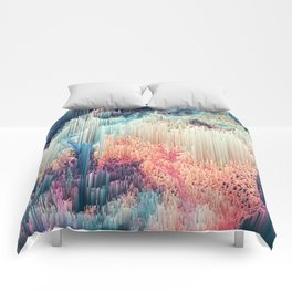 Fairyland - Abstract Glitchy Pixel Art Comforters