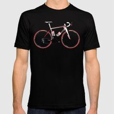 Race Bike Black Mens Fitted Tee LARGE