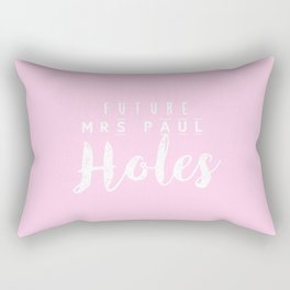 Future Mrs Paul Holes Rectangular Pillow