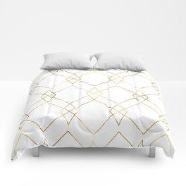 Gold Geometric Comforters
