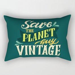 Save The Planet, Buy Vintage Rectangular Pillow